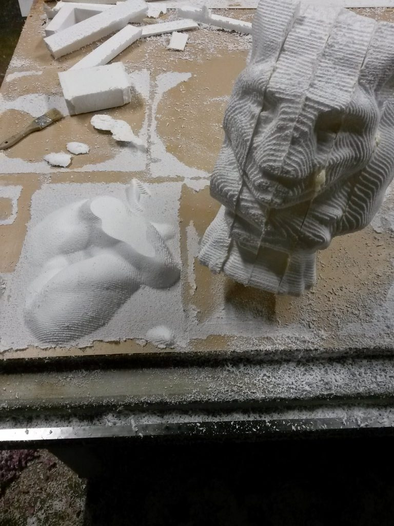 CNC milled Gargoyle as a proof-of-concept for Mecca Design Studios